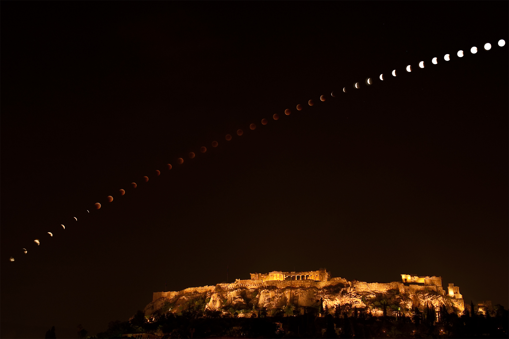 lunar eclipse, eclipse of the Moon,